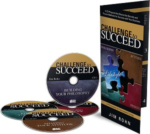 Challenge to Succeed 4-CD Set by Jim Rohn